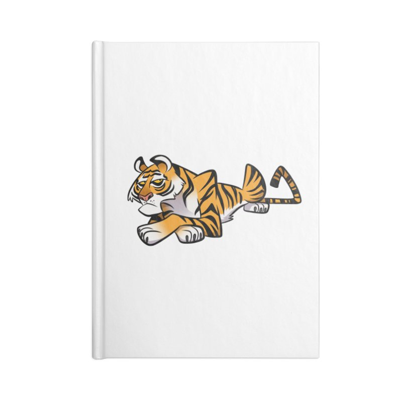 Tiger Caricature Accessories Blank Journal Notebook by binarygod's Artist Shop