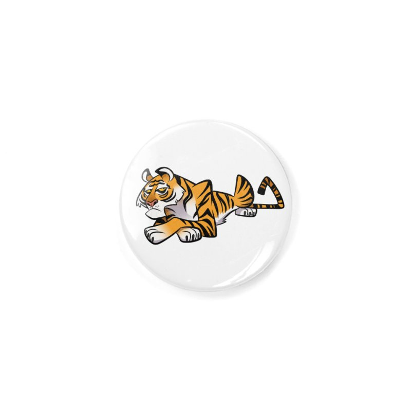 Tiger Caricature Accessories Button by binarygod's Artist Shop