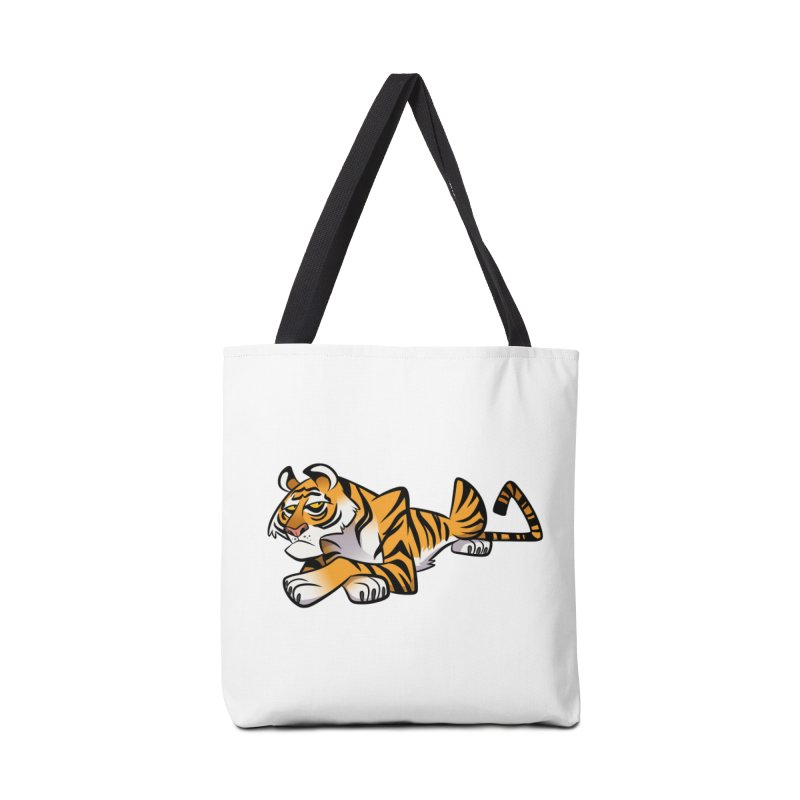 Tiger Caricature Accessories Bag by binarygod's Artist Shop