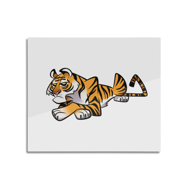 Tiger Caricature Home Mounted Acrylic Print by binarygod's Artist Shop