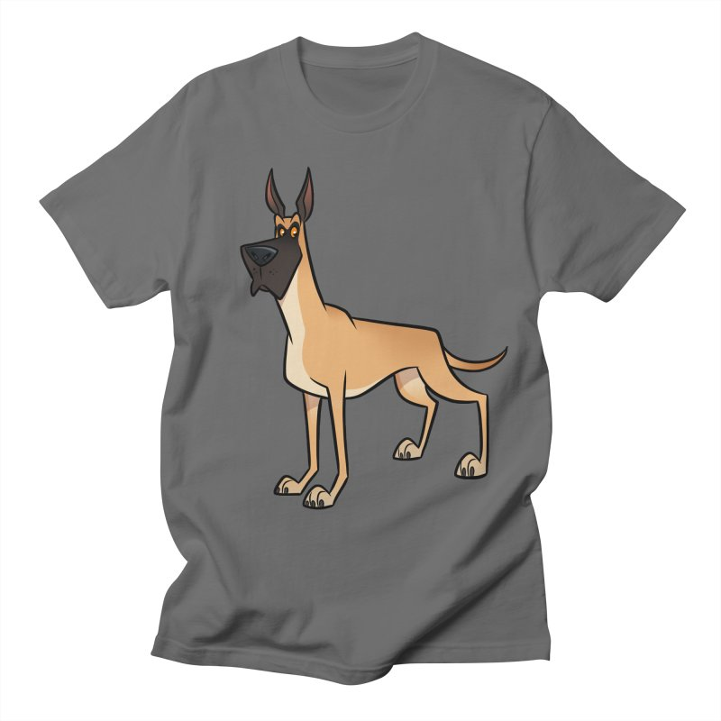 Great Dane Men's T-Shirt by binarygod's Artist Shop