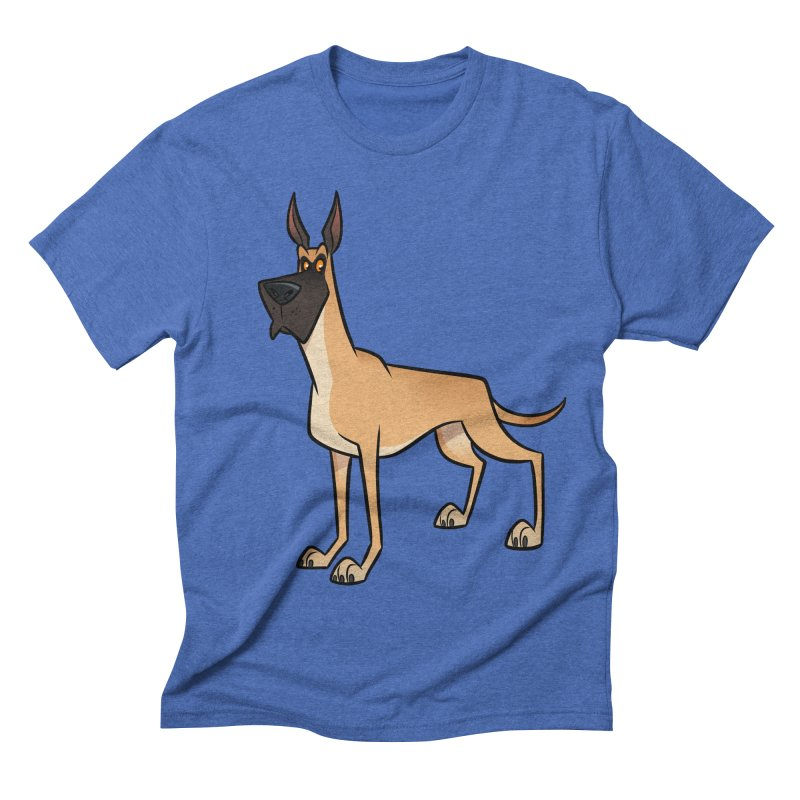 Great Dane Men's T-Shirt by binarygod's Artist Shop