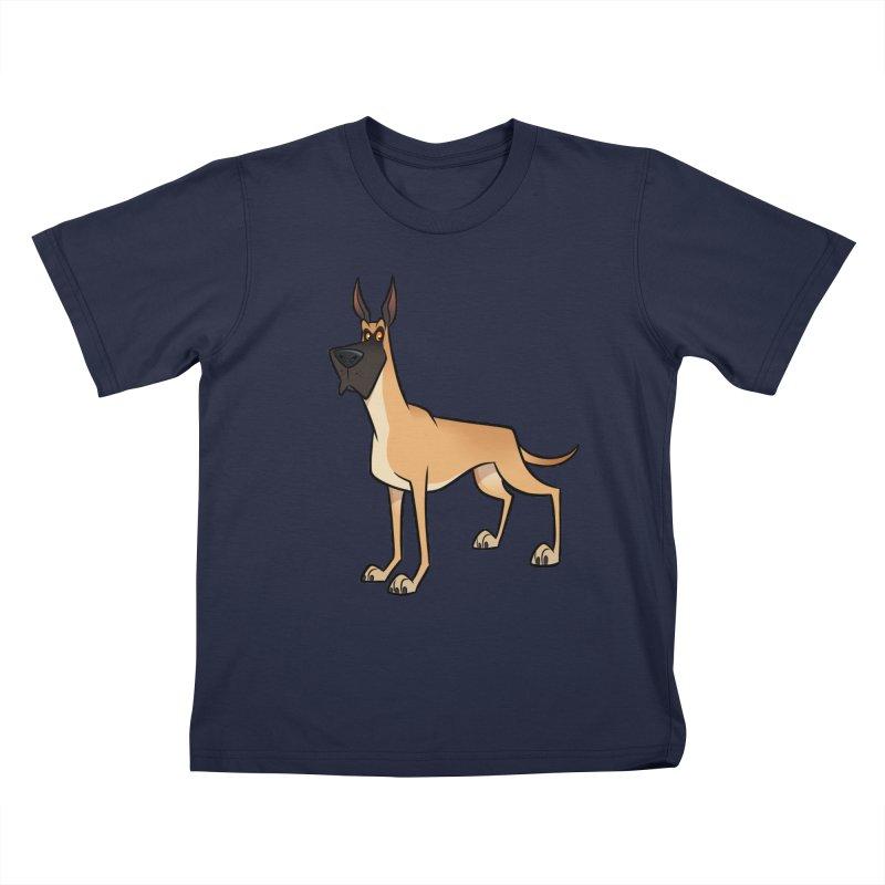 Great Dane Kids T-Shirt by binarygod's Artist Shop
