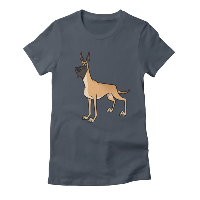 Great Dane Women's T-Shirt by binarygod's Artist Shop