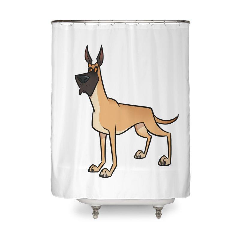 Great Dane Home Shower Curtain by binarygod's Artist Shop