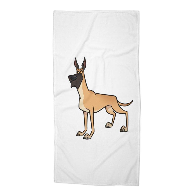 Great Dane Accessories Beach Towel by binarygod's Artist Shop