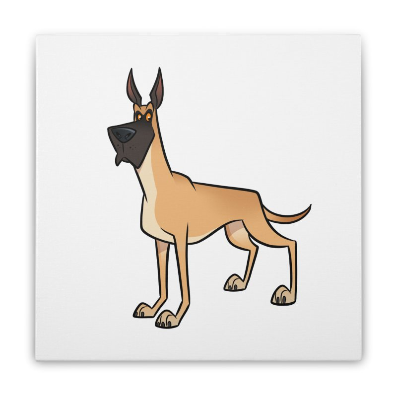 Great Dane Home Stretched Canvas by binarygod's Artist Shop