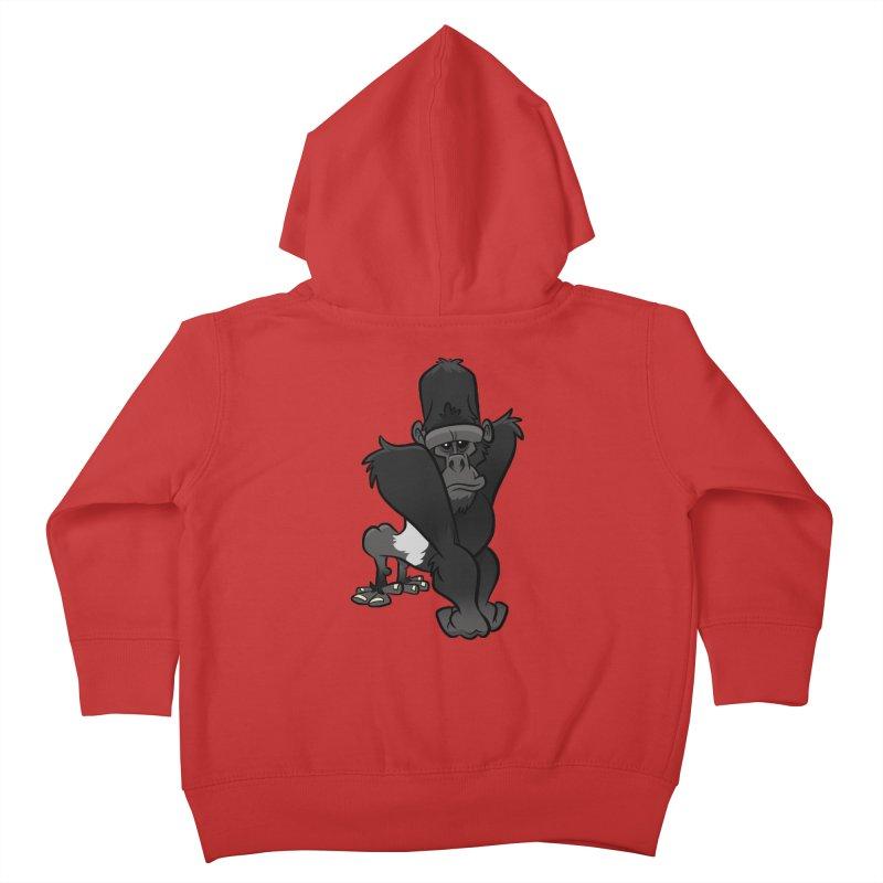 Silverback Mountain Gorilla Kids Toddler Zip-Up Hoody by binarygod's Artist Shop
