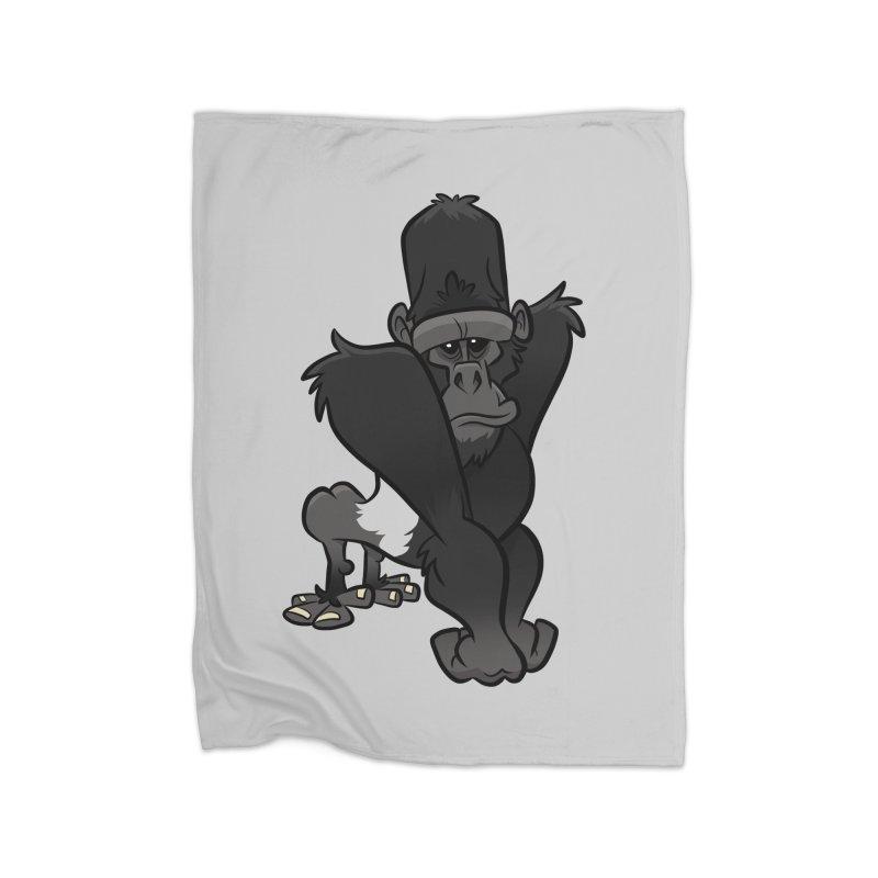 Silverback Mountain Gorilla Home Blanket by binarygod's Artist Shop