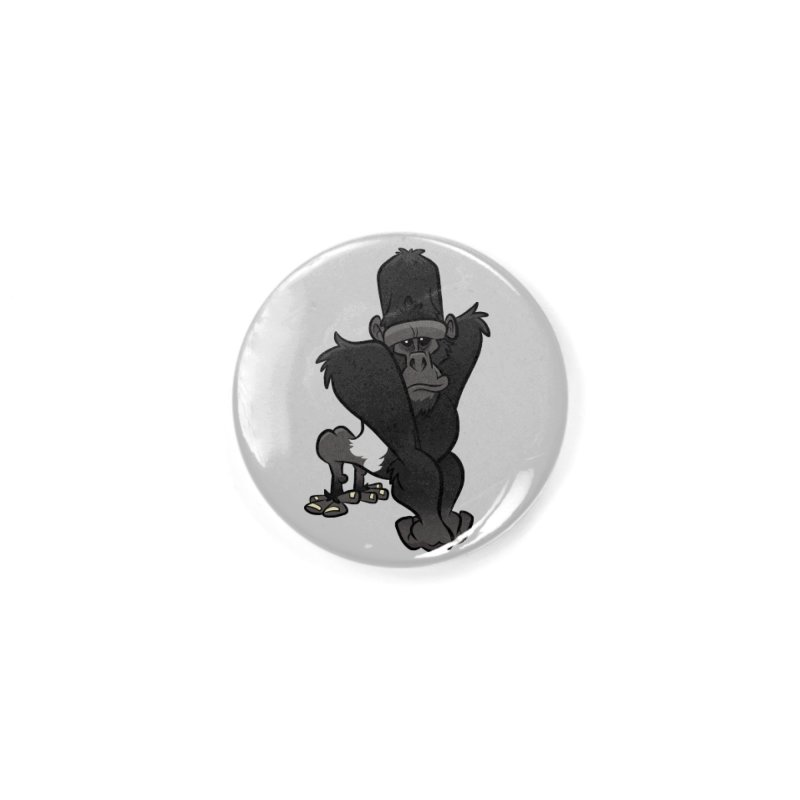 Silverback Mountain Gorilla Accessories Button by binarygod's Artist Shop