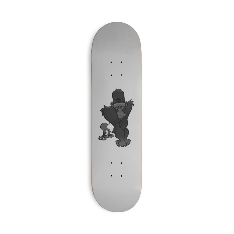 Silverback Mountain Gorilla Accessories Skateboard by binarygod's Artist Shop
