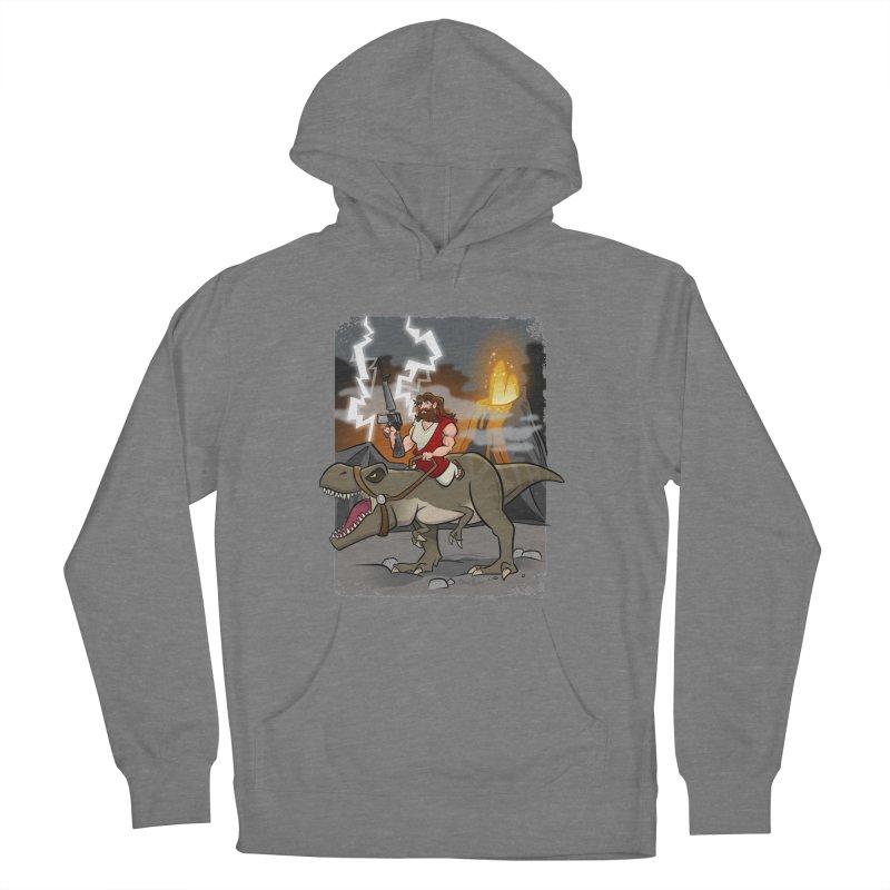Jesus Riding Dinosaur Women's Pullover Hoody by binarygod's Artist Shop