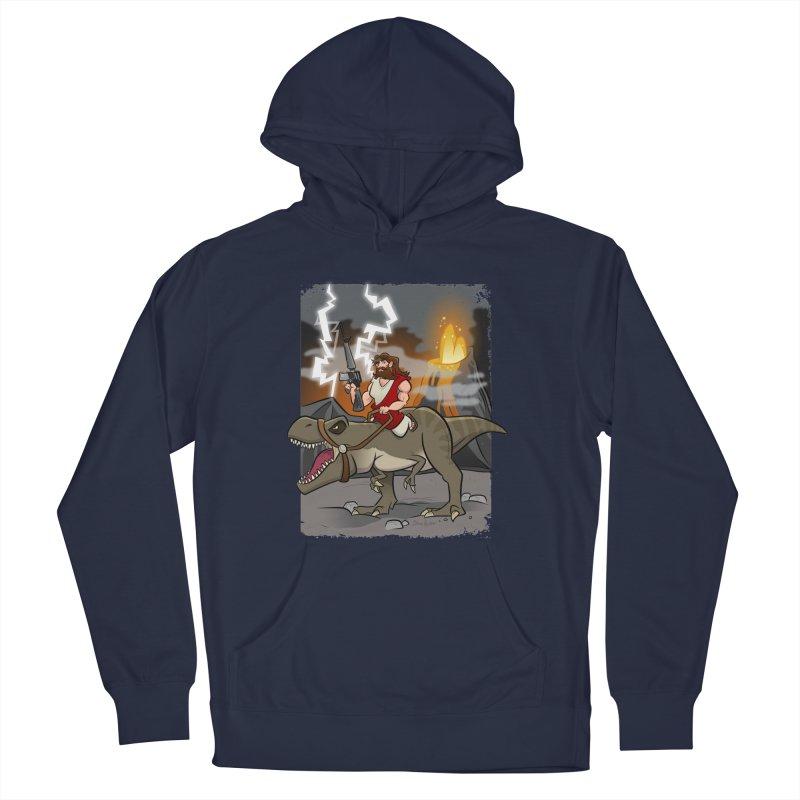 Jesus Riding Dinosaur Men's Pullover Hoody by binarygod's Artist Shop