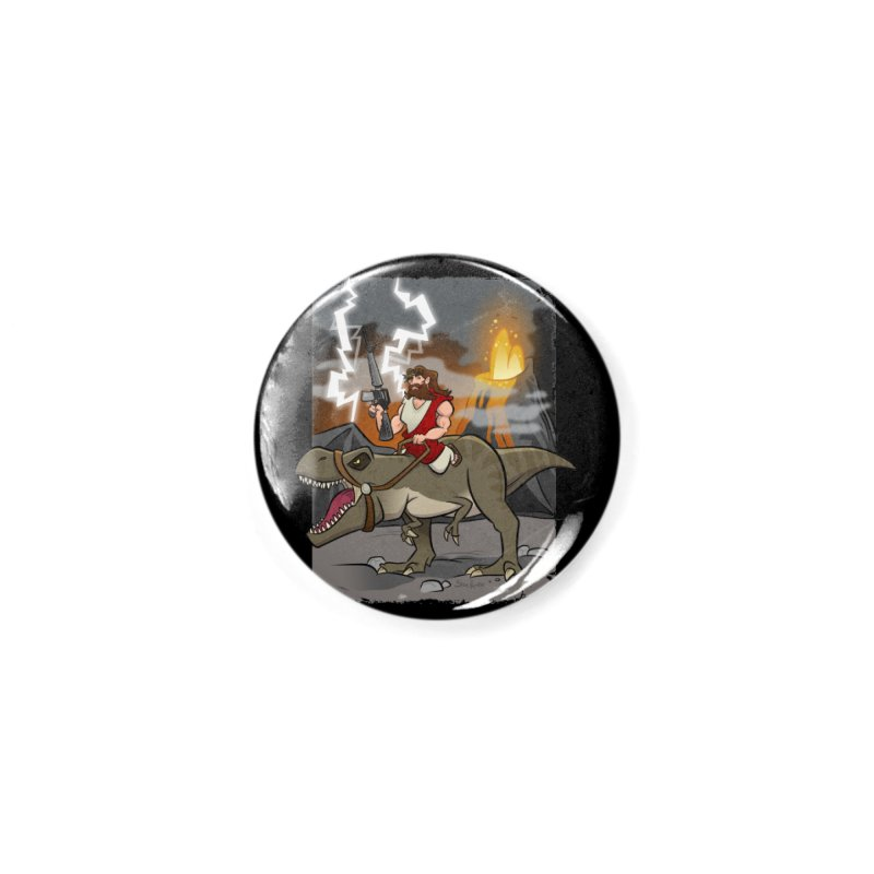 Jesus Riding Dinosaur Accessories Button by binarygod's Artist Shop