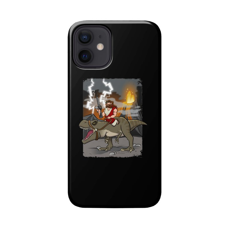 Jesus Riding Dinosaur Accessories Phone Case by binarygod's Artist Shop