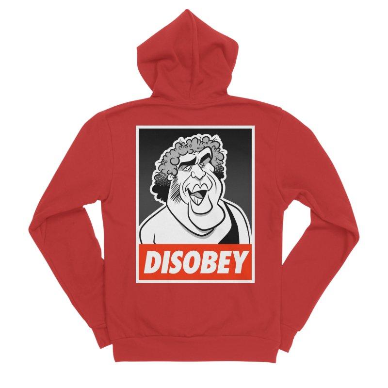 Disobey Giant Women's Zip-Up Hoody by binarygod's Artist Shop