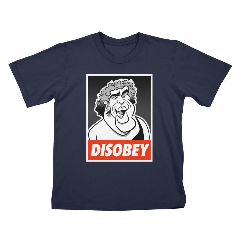 Disobey Giant Kids T-Shirt by binarygod's Artist Shop