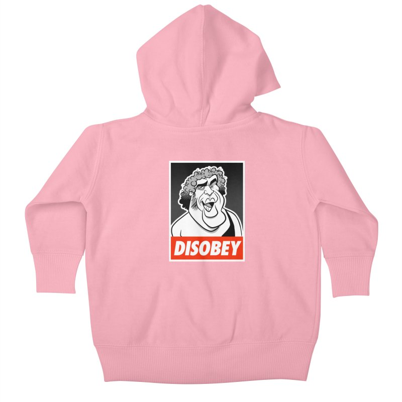 Disobey Giant Kids Baby Zip-Up Hoody by binarygod's Artist Shop