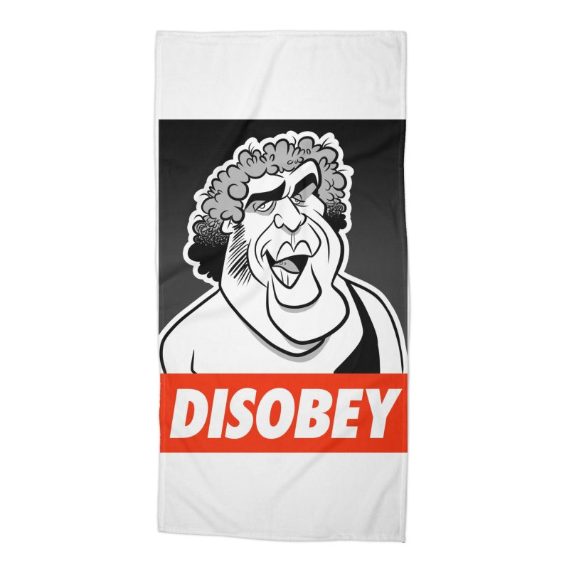 Disobey Giant Accessories Beach Towel by binarygod's Artist Shop