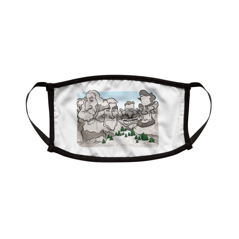 Rushmore Caricature Accessories Face Mask by binarygod's Artist Shop