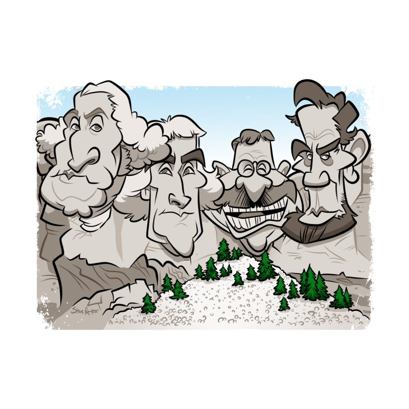 Rushmore Caricature Accessories Sticker by binarygod's Artist Shop