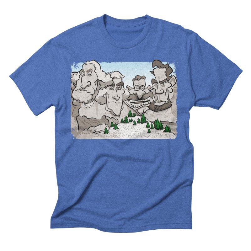 Rushmore Caricature Men's T-Shirt by binarygod's Artist Shop