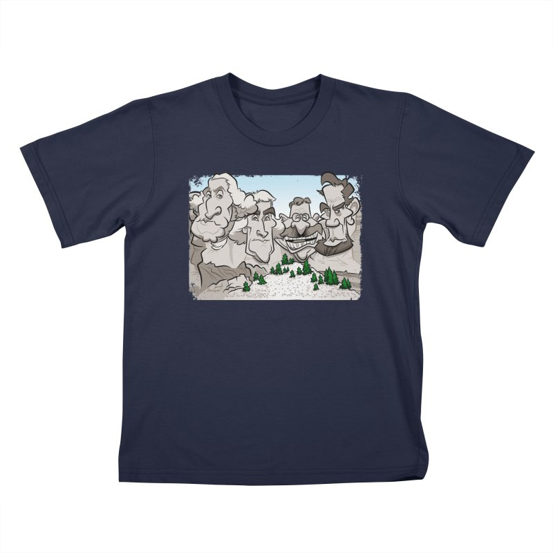 Rushmore Caricature Kids T-Shirt by binarygod's Artist Shop