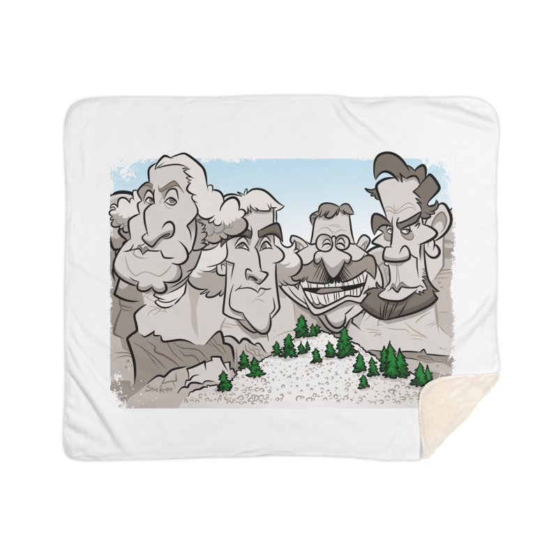 Rushmore Caricature Home Blanket by binarygod's Artist Shop