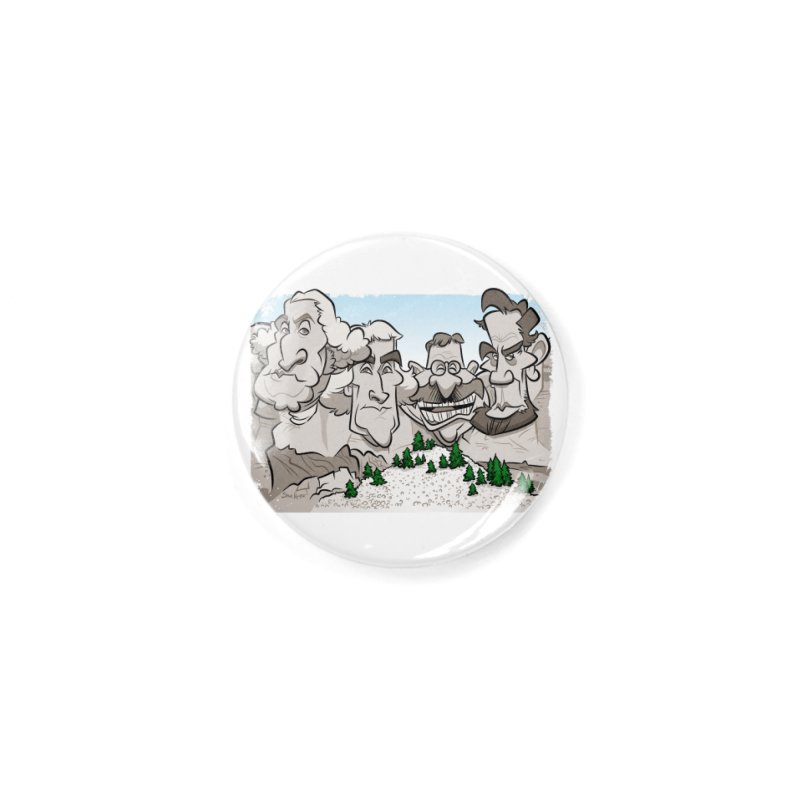 Rushmore Caricature Accessories Button by binarygod's Artist Shop