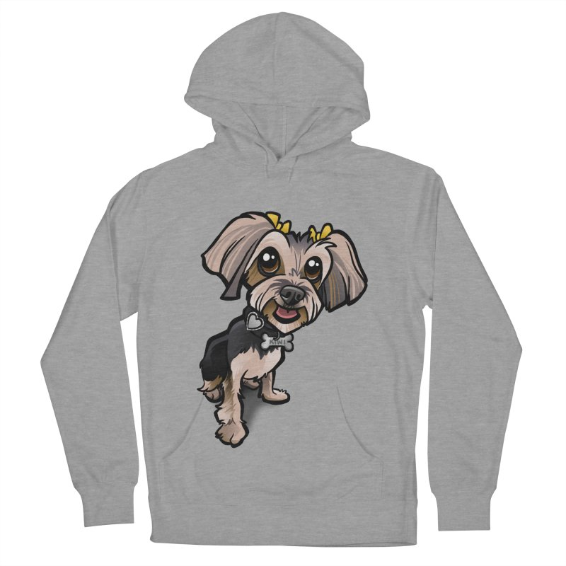 Yorkie Women's French Terry Pullover Hoody by binarygod's Artist Shop