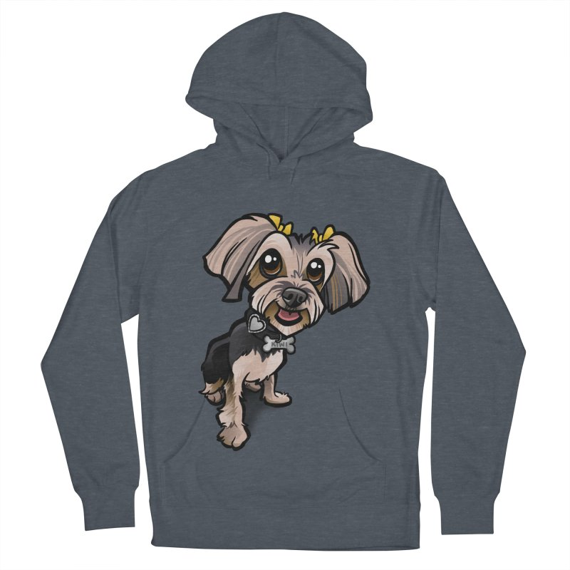 Yorkie Men's French Terry Pullover Hoody by binarygod's Artist Shop
