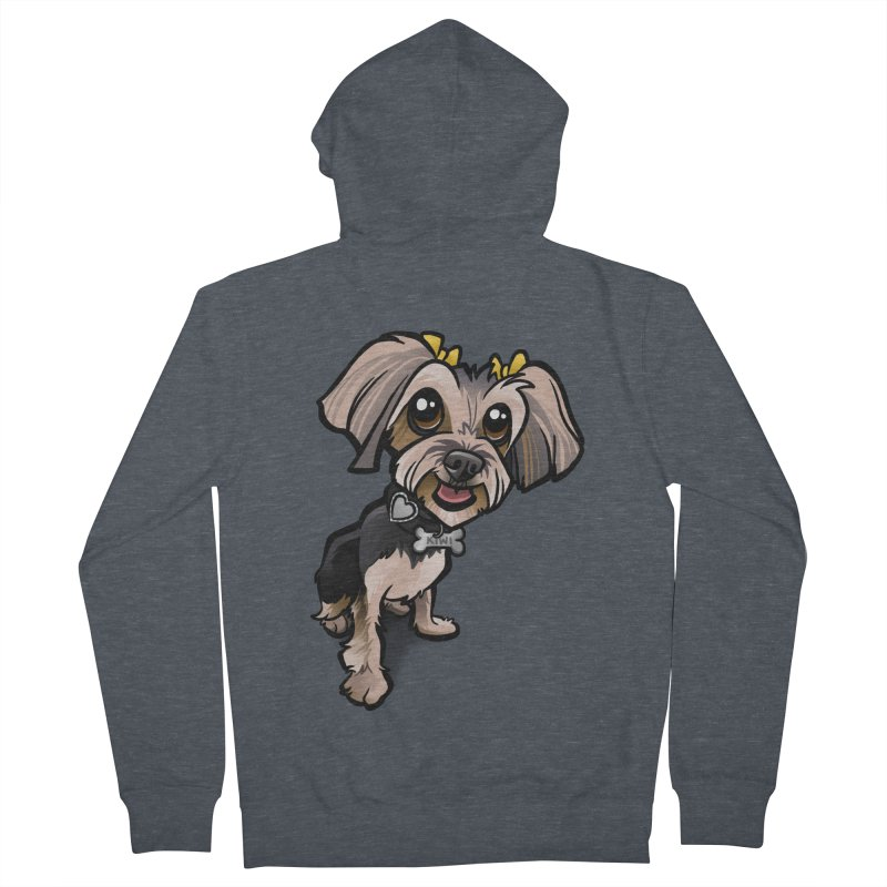 Yorkie Women's French Terry Zip-Up Hoody by binarygod's Artist Shop