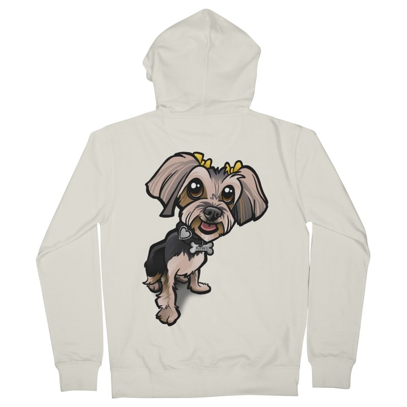 Yorkie Women's Zip-Up Hoody by binarygod's Artist Shop