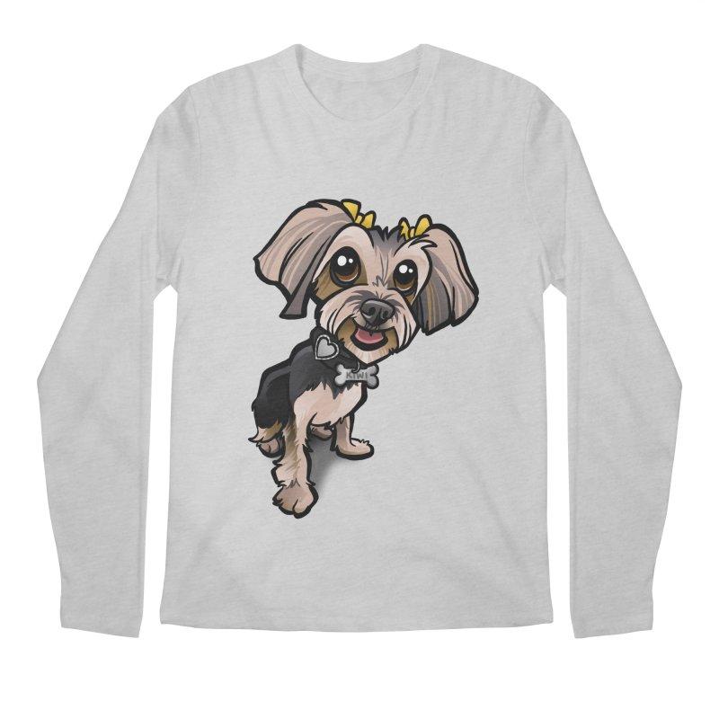 Yorkie Men's Regular Longsleeve T-Shirt by binarygod's Artist Shop