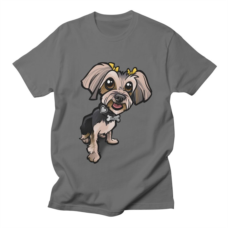 Yorkie Women's Regular Unisex T-Shirt by binarygod's Artist Shop