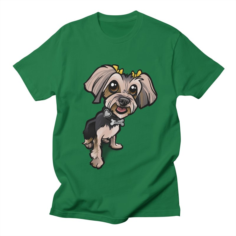 Yorkie Men's Regular T-Shirt by binarygod's Artist Shop