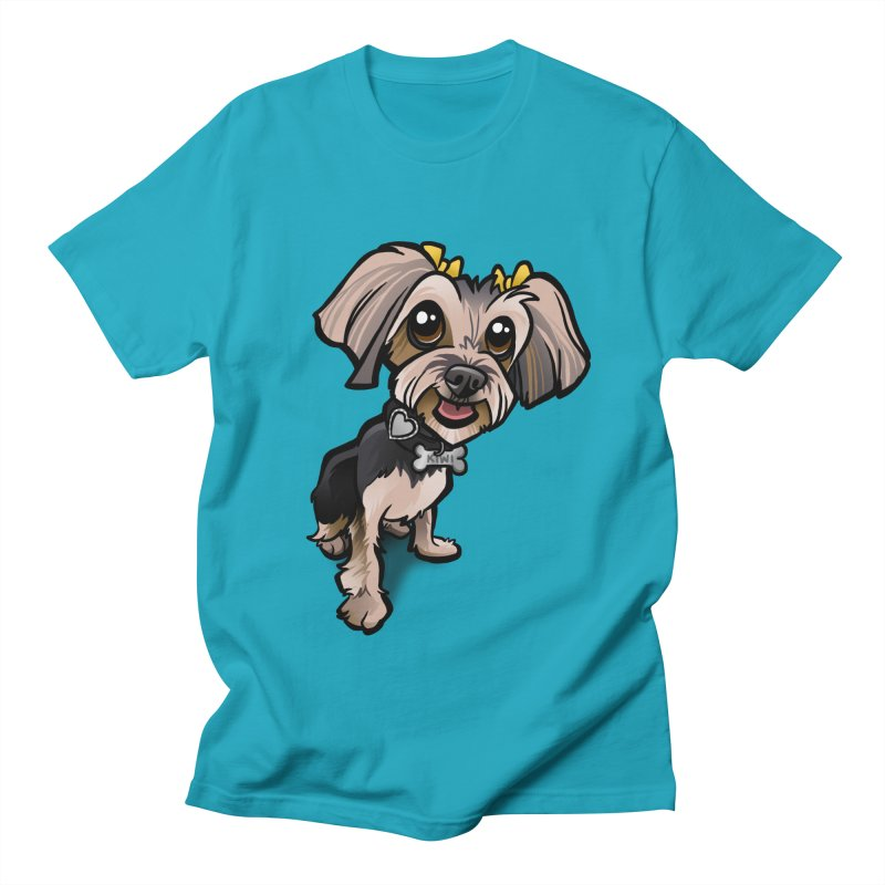 Yorkie Women's Regular Unisex T-Shirt by binarygod's Artist Shop