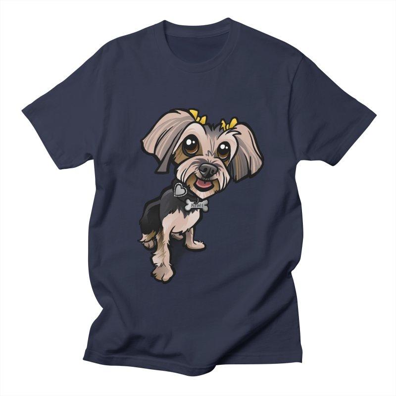 Yorkie Men's Regular T-Shirt by binarygod's Artist Shop