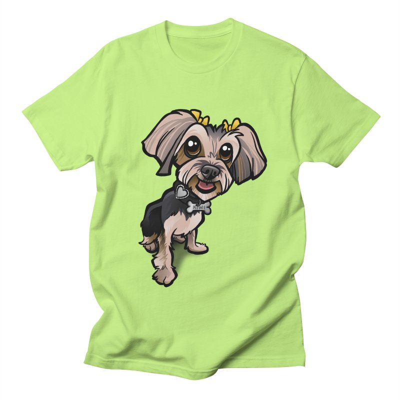 Yorkie Men's T-Shirt by binarygod's Artist Shop