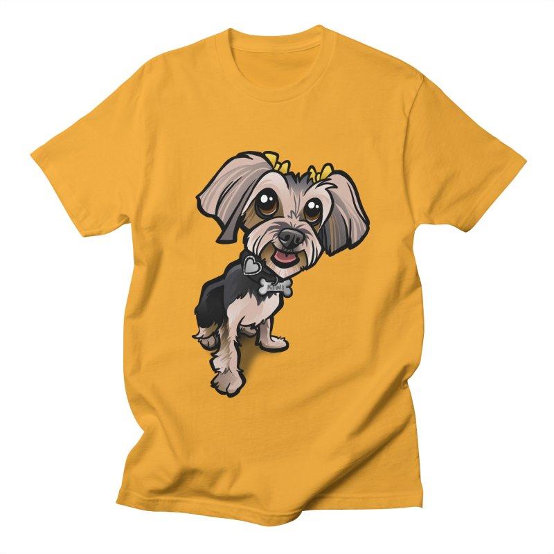 Yorkie Men's T-shirt by binarygod's Artist Shop