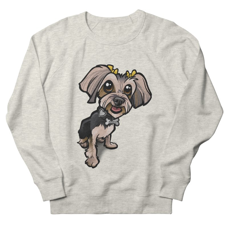 Yorkie Women's French Terry Sweatshirt by binarygod's Artist Shop