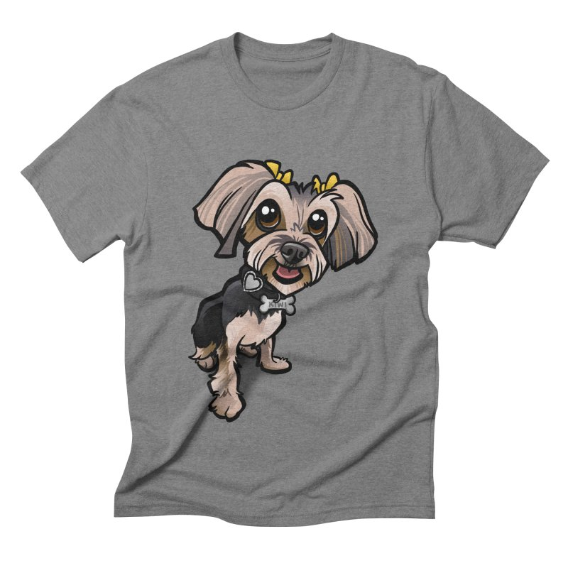 Yorkie Men's Triblend T-Shirt by binarygod's Artist Shop