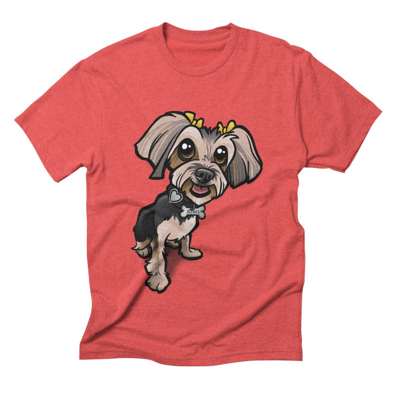 Yorkie Men's Triblend T-Shirt by binarygod's Artist Shop