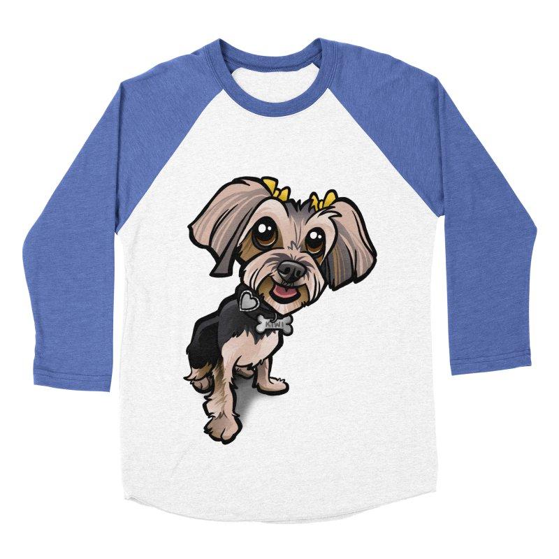 Yorkie Women's Baseball Triblend T-Shirt by binarygod's Artist Shop