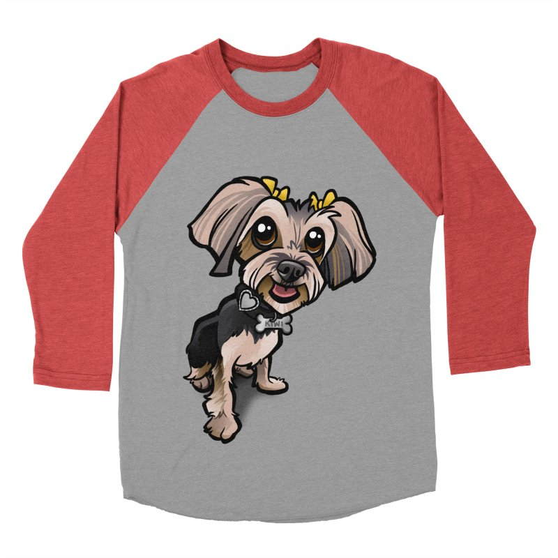 Yorkie Women's Baseball Triblend Longsleeve T-Shirt by binarygod's Artist Shop