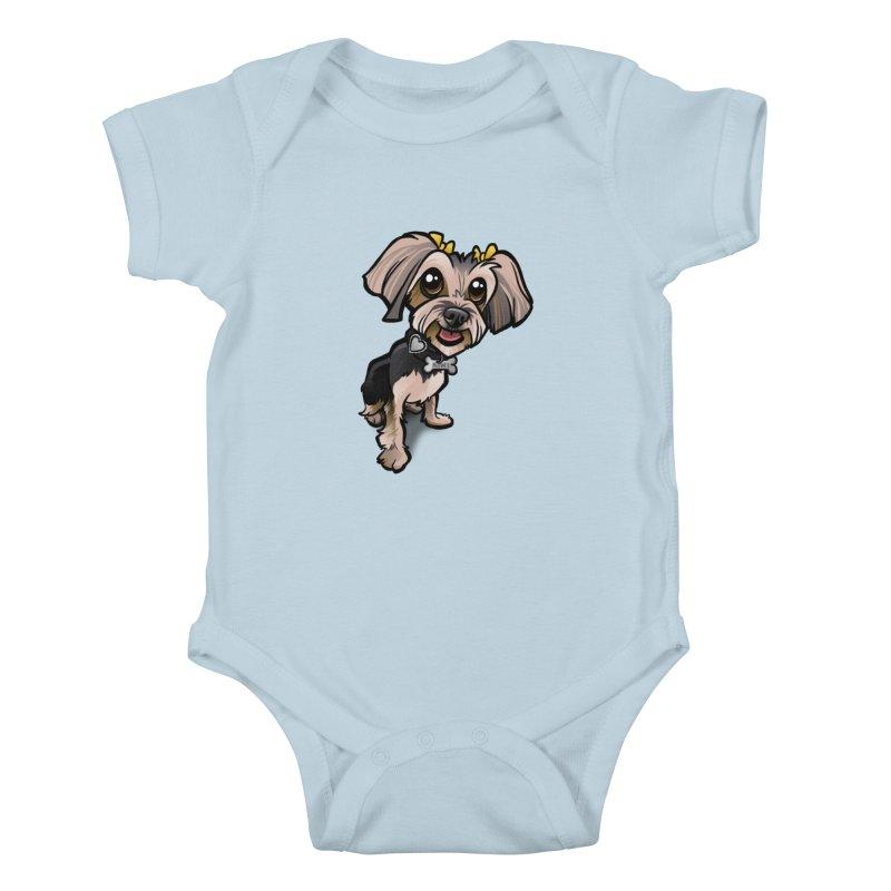 Yorkie Kids Baby Bodysuit by binarygod's Artist Shop