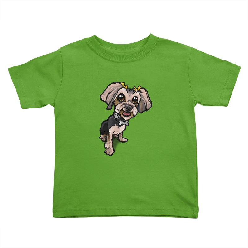Yorkie Kids Toddler T-Shirt by binarygod's Artist Shop