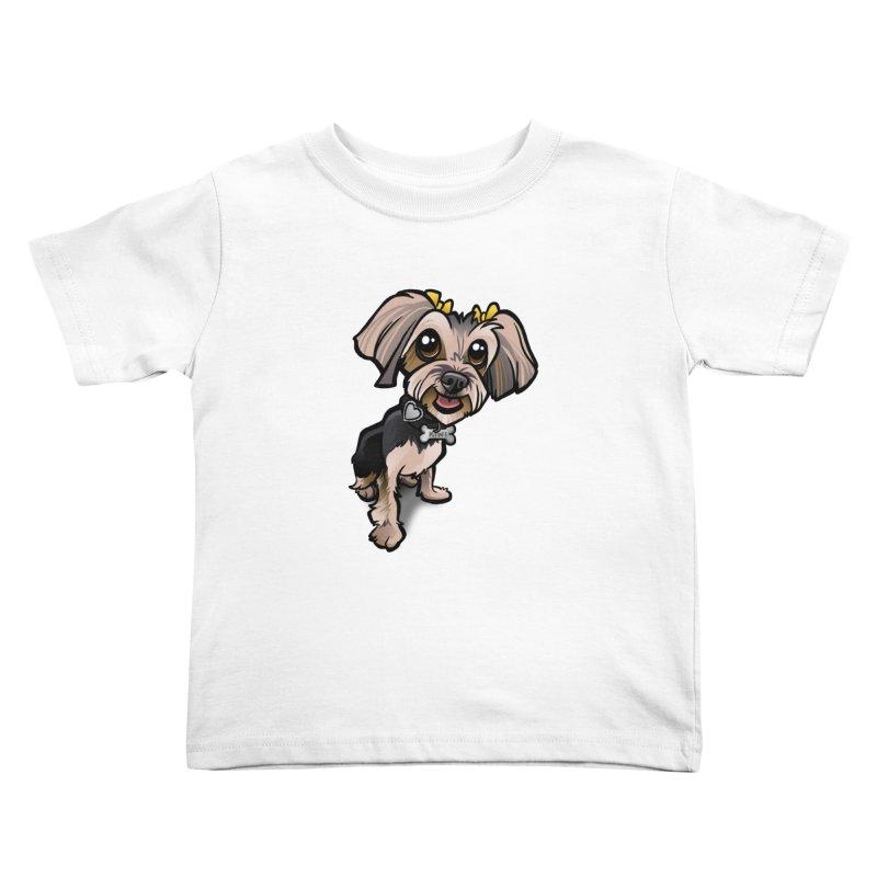Yorkie Kids Toddler T-Shirt by binarygod's Artist Shop