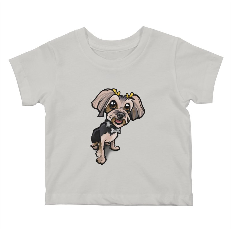 Yorkie Kids Baby T-Shirt by binarygod's Artist Shop