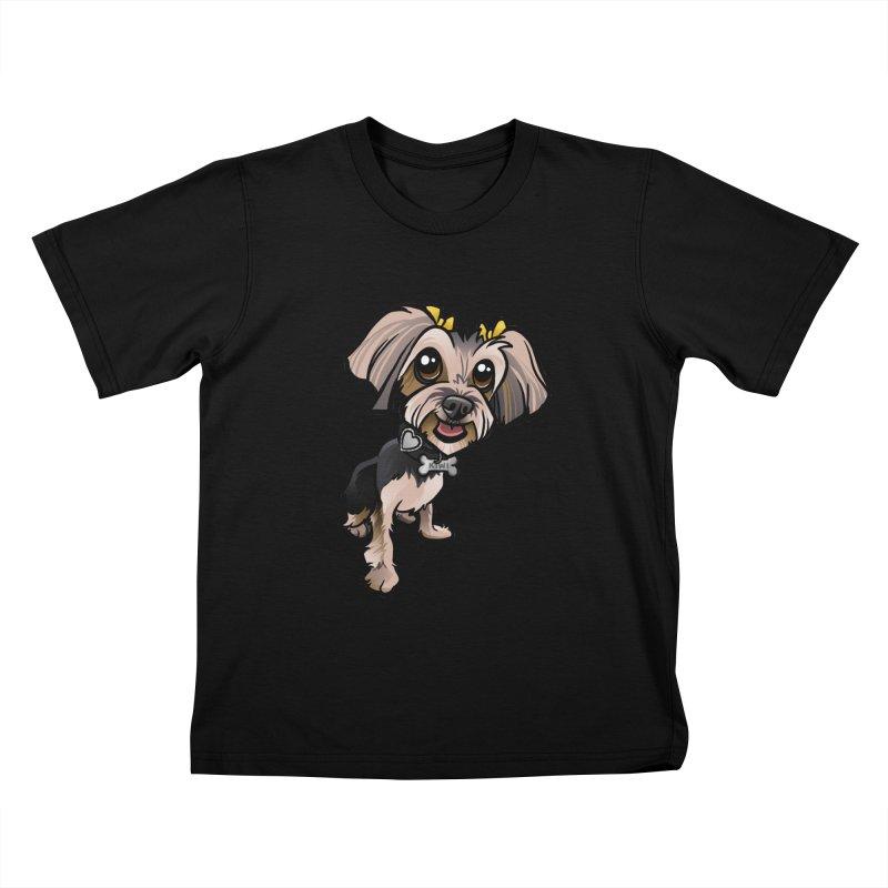 Yorkie Kids T-Shirt by binarygod's Artist Shop
